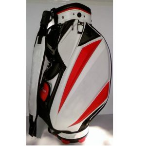 Classical Golf Club Bag, White/Red Golf PU Bag pictures & photos