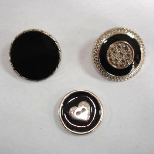 Gold Plating Color Plastic Coat Shank Button Has Black Oil