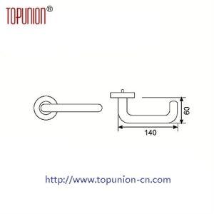 Elegant Design Stainless Steel Door Lever Handle (CLH036) pictures & photos