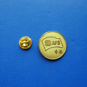 Coin Lapel Pin, Security Gold Plated Badge (GZHY-LP-026) pictures & photos
