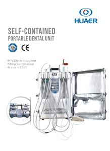 Manufacture Dental Mobile Portable Unit with Built-in Oilless Air Compressor pictures & photos