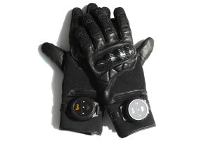 Soft Leather Taser Gloves for Police to Capturing pictures & photos