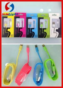 Colourful 8pin Lighting USB Cable for iPhone5 pictures & photos