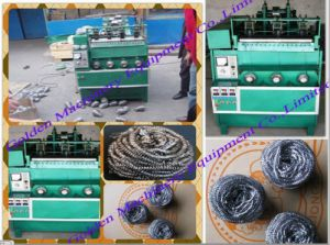 Stainless Steel Cleaning Ball Scrubber Scourer Machine pictures & photos