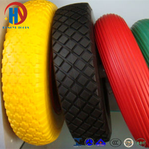 4.00-8 European Standard Solid Flat Free PU Foam Wheels pictures & photos