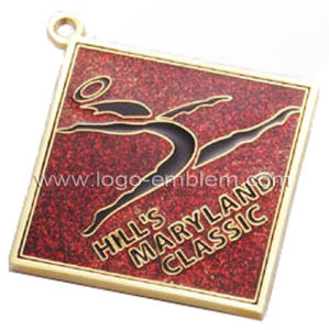 Gold Plated Custom Competition Award Medal with Epoxy and Glitter pictures & photos