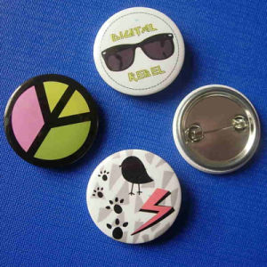 Custom Button Badge Cute Design Printing Lapel Pin (GZHY-TB-006) pictures & photos