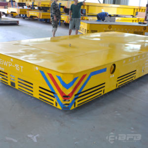 Foundry Plant High Efficiency Motorized Trackless Transfer Trolley on Floor pictures & photos