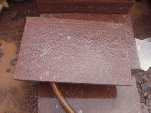 Chinese Red Porphyry Mushroom Paving Stone pictures & photos