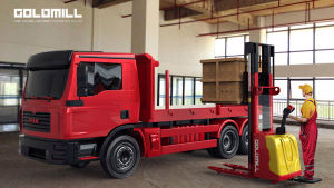 1.6~5.3m Electric Lift Stacker with CE pictures & photos