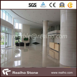 Polished Precut Cream Marble Column Cream Beige Marble for Wall pictures & photos