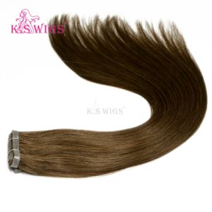 100% Indian Human PU-Skin Hair Weft Extension pictures & photos