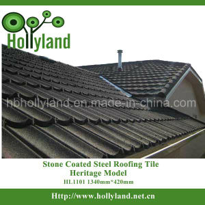 Colorful Stone Chip Coated Metal Roofing Tiles (Classical Type) pictures & photos