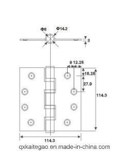 SUS304 Butt Hinge for Fire Door and Metal Door (304545-4BB/2BB) pictures & photos