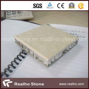 Cream Marfil Marble Composite Tile with Aluminium Honey-Comb Back for Floor