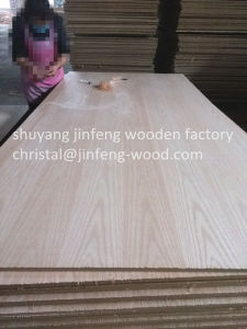 Red Oak Veneer MDF for Furniture pictures & photos