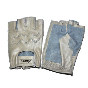 Fingerless Grey Soft Goaskin Climbing Safety Gloves pictures & photos