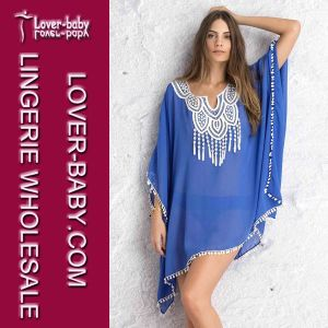 Lady Blue Crochet Chiffon Caftan L38290 pictures & photos