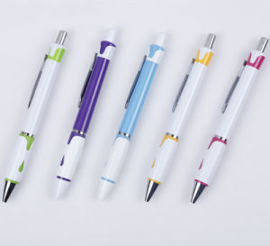 Stylish Good Design Nice Writing Plastic Ball Point Pen Wholesale Tc-6009