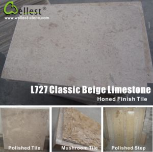 Classic Beige Limestone Tile with Acid /Honed /Mushroom / Antique/ Tumbled/ Chiseled Finish pictures & photos