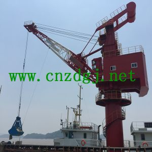 Hydraulic Floating Boat Crane with Grab pictures & photos