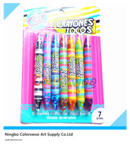 7 Color Double Tip Rainbow Crayons for Students and Kids pictures & photos