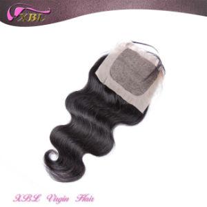Free Part Top Lace Closure 4X4 Virgin Peruvian Hair Silk Base Closure pictures & photos