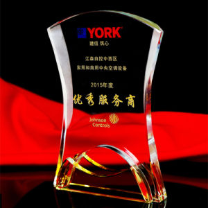 Book Shape Crystal Glass Trophy for Souvenir pictures & photos