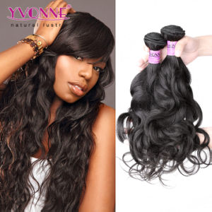 Natural Color Natural Wave Human Hair Extension Peruvian Hair pictures & photos