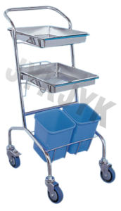 Stainless Steel Medical Treatment Trolley pictures & photos
