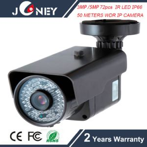 3MP / 5MP 72PCS IR LED IP66 50 Meters to 70 Meters Long Range WDR IP Camera pictures & photos