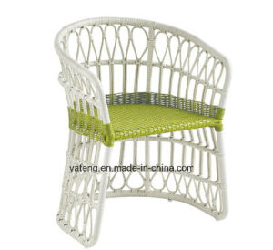 Leisure Cheap Outdoor Garden White Round Rattan Furniture Dining Chair&Table (YT893-1) pictures & photos