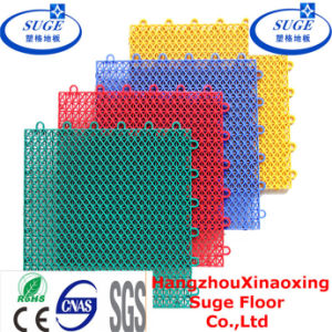 Anti-Slip Anti-Agging PP Modular Plastic Suspended Interlocking Tennis Court Flooring pictures & photos