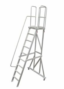 (375LBS) 2.49m Aluminum Alloy Detachable Platform Ladder with Casters pictures & photos