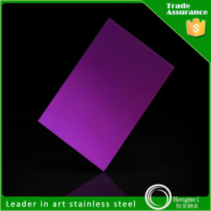 201 304 316 430 Stainless Steel Sheet Mirror Violet Finish with Best Price pictures & photos