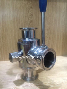 304/316L Sanitary Stainless Steel Three Way Clamped Ball Valve pictures & photos