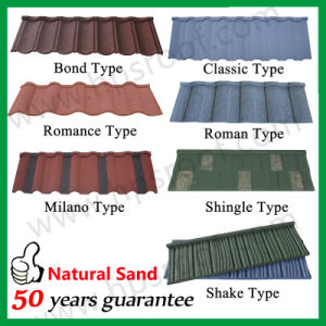 Building Material Stone Coated Roof Tile Stone Aluminum Plate Roofing Sheet 50 Years Warranty pictures & photos