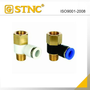 Pneumatic Plastic Fitting with Brass