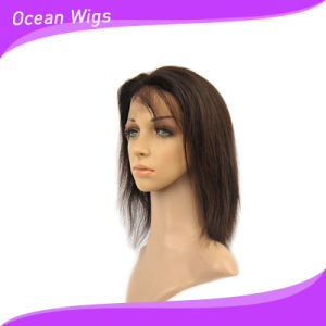 "100% Human Virgin Remy Brazilian 12"" Straight Front Lace Wig pictures & photos"