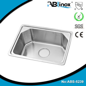 Kitchenware Stainless Steel One Stretched Sink ABS5239 pictures & photos