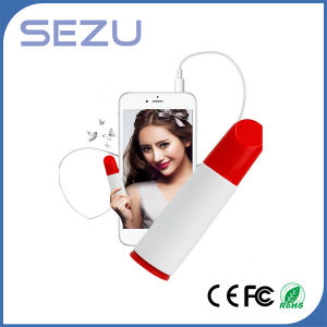 Promotional Gift Lipstick Shape Portable Power Bank for iPhone 6s pictures & photos