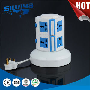 Multi Vertical Power Socket with USB/Multi Layer/Table Sokcet pictures & photos