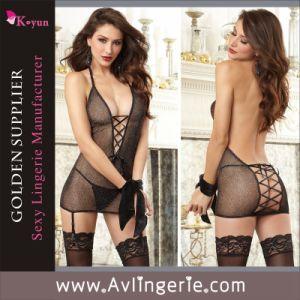 Sexy Lingerie Women Babydoll Nightwear Erotic Lingerie Sexy Teddy (KLB1-079)