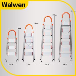China Factory Steel Foldable Safety Domestic Attic Step Ladder pictures & photos