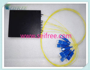 1*8 Plastic Box CATV FTTH Fiber Optic Splitter (B2 package) pictures & photos