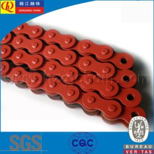 420 Motorcycle Chain with Orange Plates pictures & photos