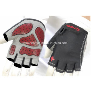 Cycling Half Finger Sports Bike Bicycle Cycle Sports Equipment Glove with Bucklle Gel Padding Sports Wear Jg12h003 pictures & photos