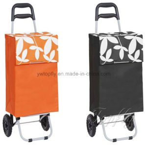 Bigger Wheels Foldable Shopping Trolley with Wire Support pictures & photos