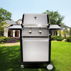 Hot Selling 2 Burner Outdoor Stainless BBQ Gas Grill pictures & photos