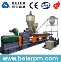 Parallel Twin Screw Hot-Air Die-Face Plastic Masterbatch Pelletizing/Compounding/Recycling/Granulating Machine pictures & photos